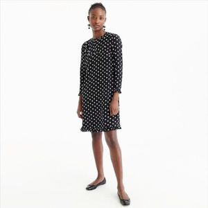 J.Crew Black Silk Dress in Star Print Size 10